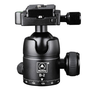 Manbily B-2 Professional Tripod Heads,Universal Ball Head with Fast Mounting Plate,Camera Tripod Head for Canon Nikon DSLR