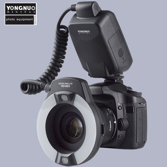 Yongnuo TTL Macro Ring Flash Lighting Light YN-14EX for Canon Cameras as MR-14EX