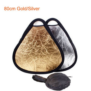 80cm Gold Silver Portable Folding Hand Grip Photo Camera Photograph Flash Speedlite Reflector