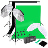 Photo Studio Continuous Lighting and Backdrop Kit