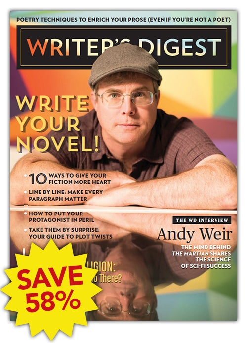 Writer's Digest Magazine One Year Subscription - Canadian