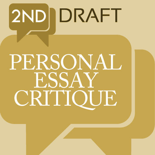 2nd Draft Critique Service: Personal Essays