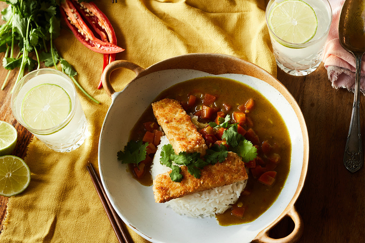 vegan katsu curry by joey hulin from mind and bowl