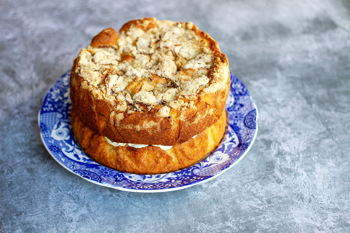 apple crumble cake by rustic cakes