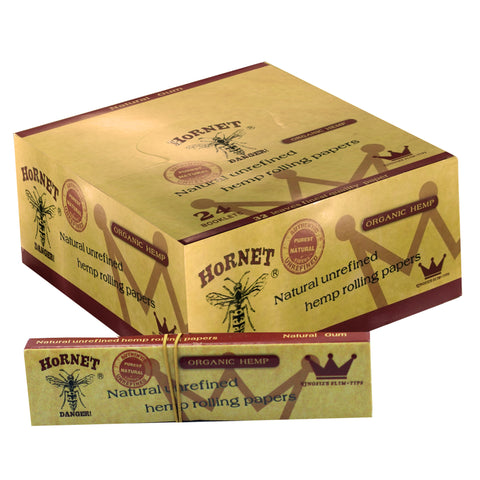 Rolling Paper - HORNET ORGANIC HEMP ROLLING PAPERS WITH TIPS