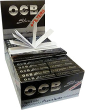 Load image into Gallery viewer, Rolling Paper - OCB SLIM PREMIUM ROLLING PAPERS WITH TIPS Box Of 32