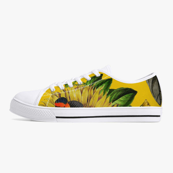 Jacki Easlick Classic Low-Top Canvas Shoes  Yellow Sunflower