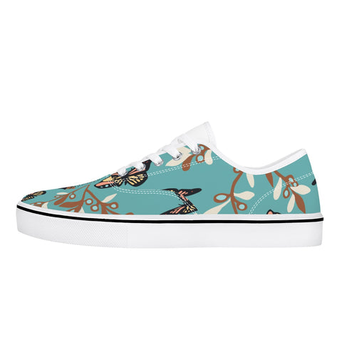Jacki Easlick Canvas Sneakers - Turquoise Butterfly