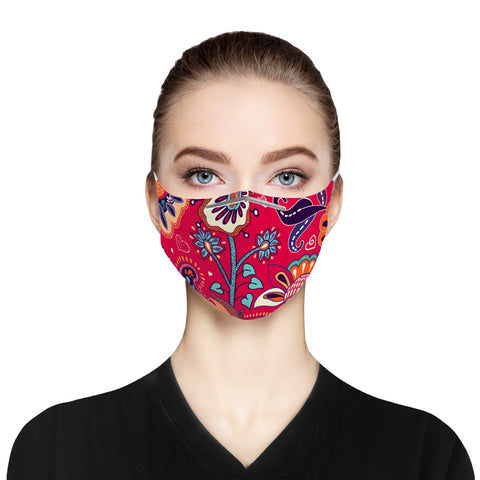 Jacki Easlick Folksy Cloth Face Mask For Adults