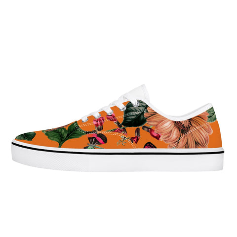 Jacki Easlick Canvas Sneakers - Orange Sunflower