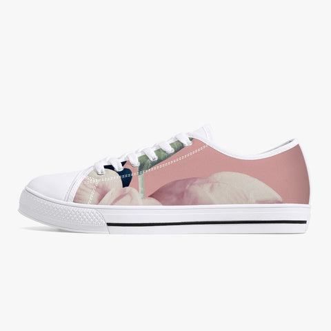 Jacki Easlick Classic Low-Top Canvas Shoes Pink Floral