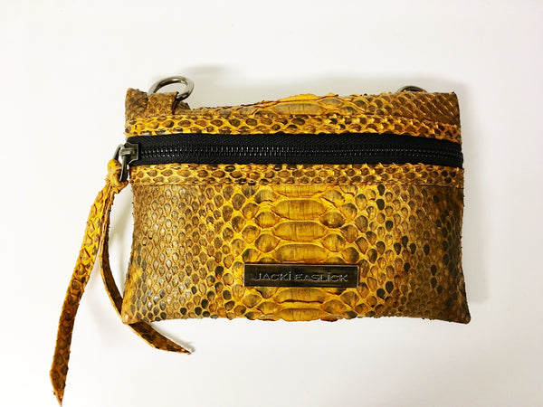 Real Python Mini Crossbody - Gold