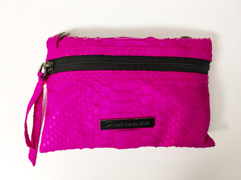 Real Python Mini Crossbody - Hot Pink