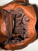 Cognac leather hobo bag