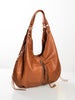 Cognac leather hobo bag - BEST SELLER!