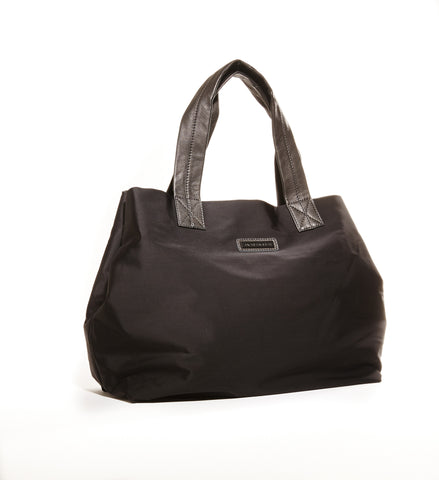 Black basic travel tote