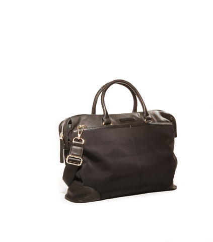 Black nylon briefcase