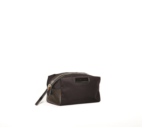 Jacki Easlick Black nylon small cosmetic case