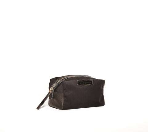 Black nylon small cosmetic case