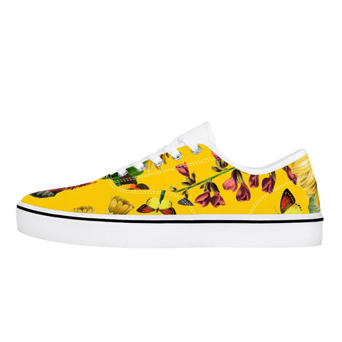 Jacki Easlick Canvas Sneakers - Yellow Sunflower