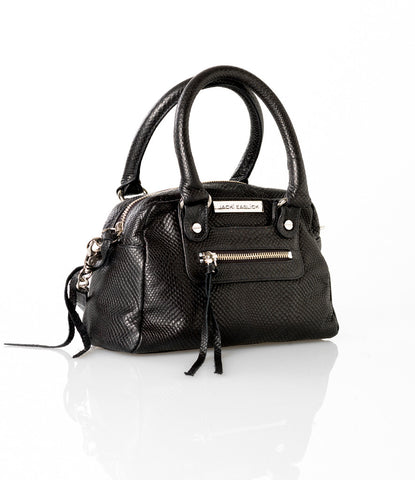 Jacki Easlick Leather Black Mini Satchel