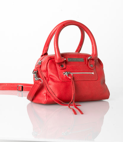 African Cobra Red Mini Satchel