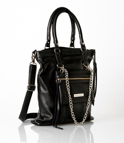 Jacki Easlick Black Tote with Detachable Mini
