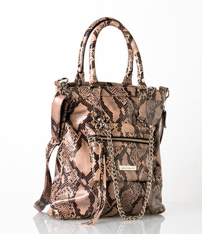 Python Tote with Detachable Mini