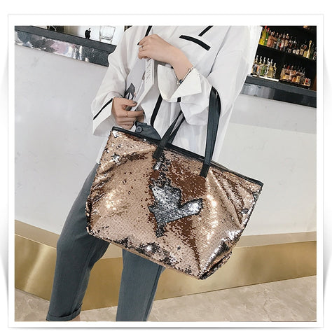Trendy Sequin Beach Tote