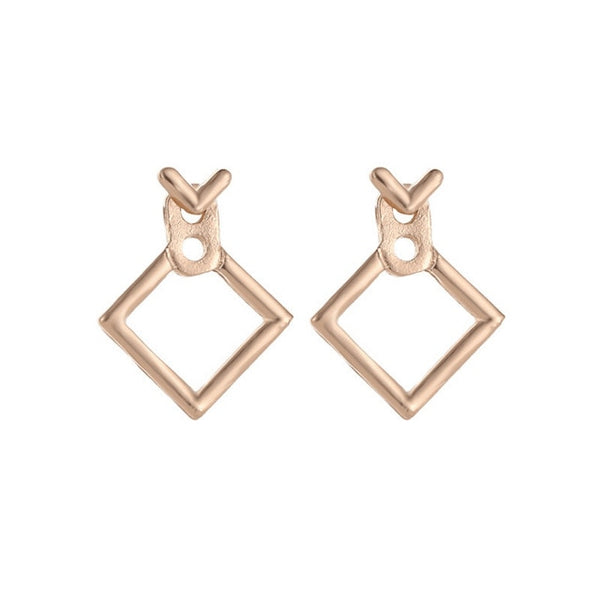 Trendy Triangle Square Stud Earrings