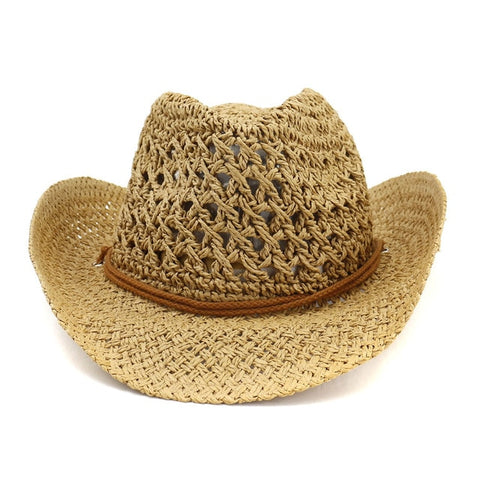 Natural Straw Cowboy Hat Unisex
