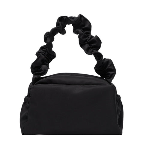 Nylon Ruched Shoulder Bag