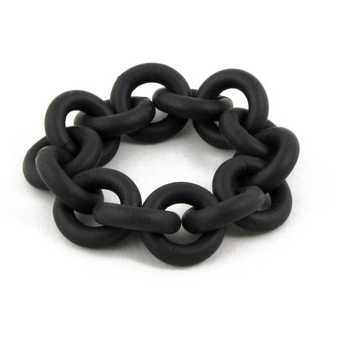 Oversized black rubber bracelet