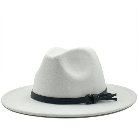Wool Fedora Hat With Leather Ribbon - BEST SELLER!