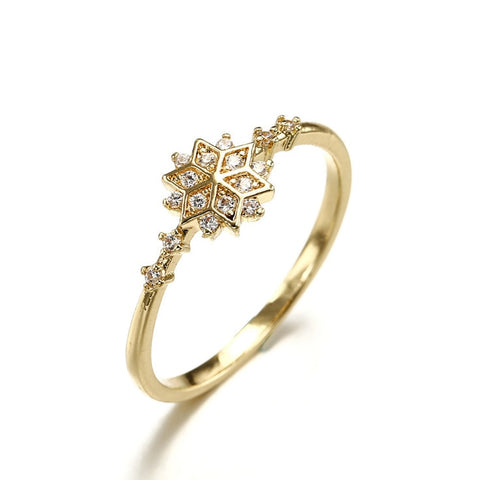 Dainty Women's Snowflake Ring