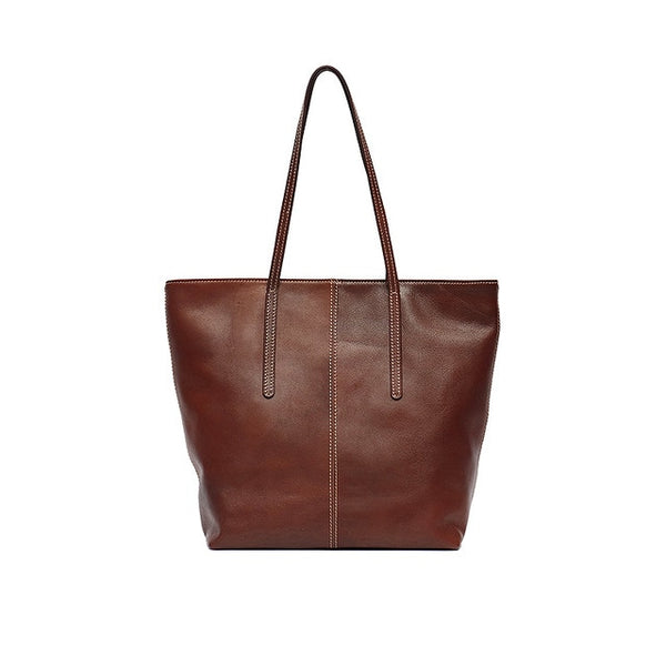 Large Genuine Leather Tote