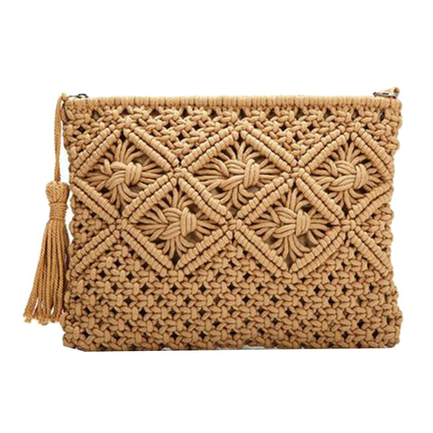 Hand-Woven Cotton Clutch Handbag