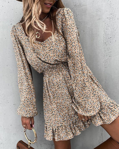 Lantern Sleeve Summer Dress
