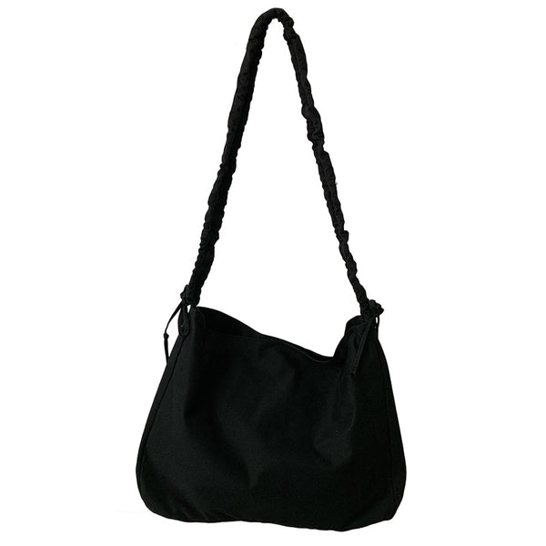 Casual Ruched Strap Hobo