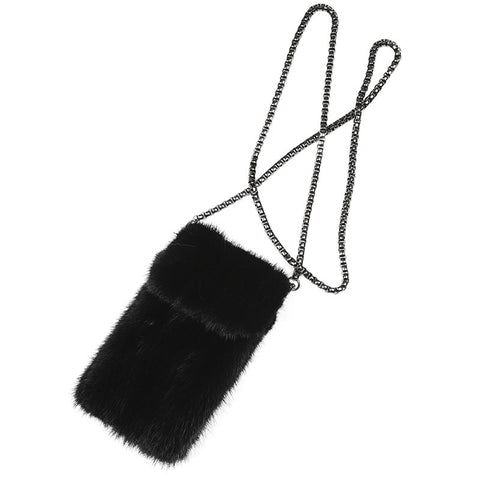 Real Mink Fur Cell Phone Bag