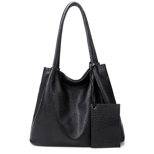 Leather Tote with attached Mini
