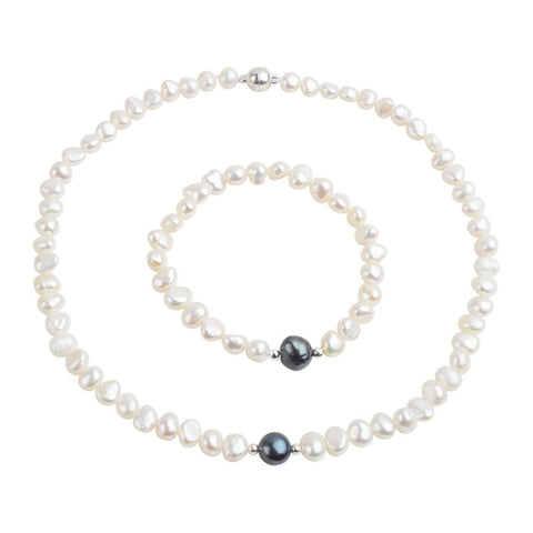 Real Freshwater Pearl Jewelry Set