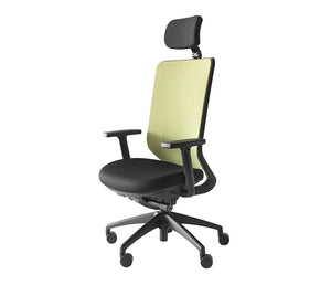 Silla buddy high respaldo steel con apoyacabeza, base negra