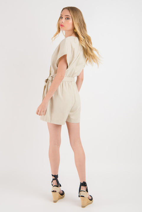 Linen Jumpsuit - Natural