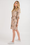 V Neck Shift Dress - Blush print