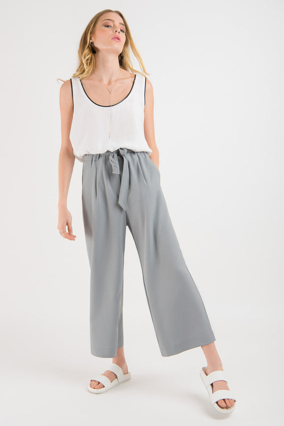 Tie Waist Culotte - Duck Egg Blue Video