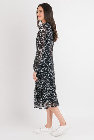 Vintage Swing Dress - Black print