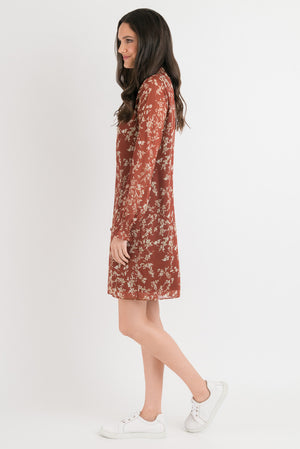 Emma Dress - Cinnamon Floral