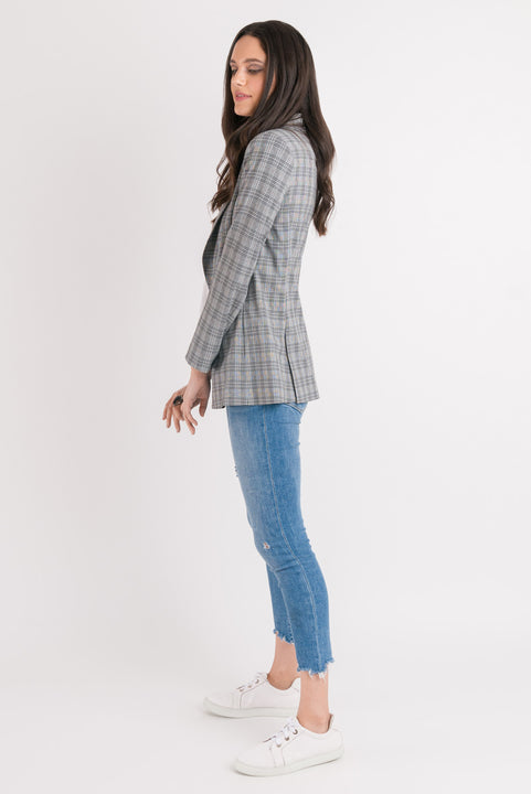 Blazer - Tan Plaid