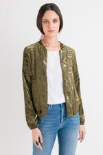 Bomber Jacket - Green Velvet